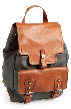 Leather backpack-SR