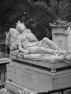 "Athens, Greece This is the famous ""sleeping Girl,"" the Tomb of Sofia Afentaki, a work by the sculptor Yannoulis Chalepas from Tinos. Photo by Andrew Morang"