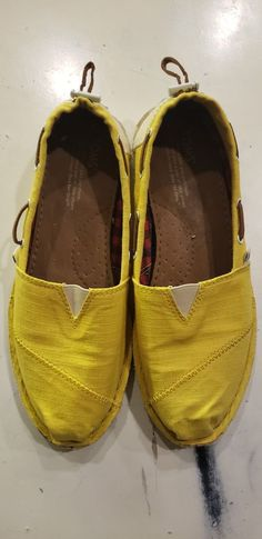 8c14d343e5e TOMS classic suede insole with cushion for comfort. Yellow ShoesToms  ClassicCanvasLoafersSlip OnFlatsSneakersStoreLink