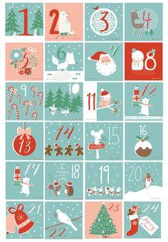 ~Mooie advents-kalender van Lizzie Mackay~