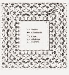 Картинки по запросу квадратная кокетка крючком схемы