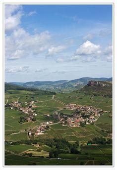 Solutré-Pouilly ~ Burgundy ~ France ~ Solutré-Pouilly is famous for its spectacular rock, a limestone escarpment amid the vineyards of the Mâconnais.