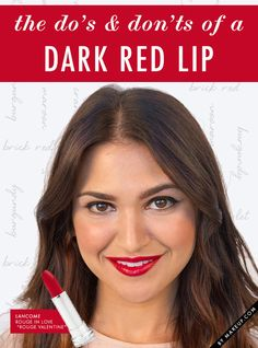 The time has come for bold and bright to give way to the deep, dark lip colors of fall. Much like red lipstick, women often think they can't wear a richly pigmented lip, but as long as you know what you're doing dark lipstick can look remarkably chic. Without further ado, here are MDC's do's and don'ts of dark lipstick…
