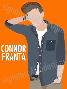 Minimalist Digital Artwork of YOUTUBER - Connor Franta. ( 11.7x16.5 inches / A3 ) by signatureAMSdesigns on Etsy - YES PLEASEEE!