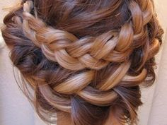 double braid...wish my hair was long enough to do this!