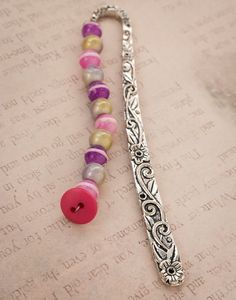 Colorful Beads Bookmark (With Holographic and Glow in the Dark beads!)
