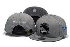 7919b90cc023b NBA Golden State Warriors Mitchell Ness Strapback Hats Gray 024! Only   8.90USD