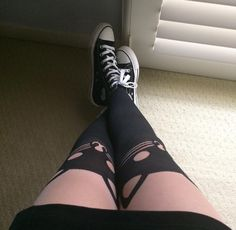 Kitty knees // LOVEsick Cat Faux Thigh High Tights