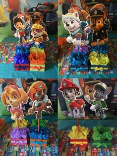 A personal favorite from my Etsy shop https://www.etsy.com/listing/293994987/set-of-8-wooden-paw-patrol-centerpieces