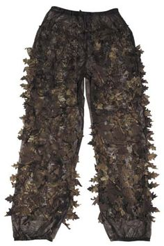 Dark leaves 3D camo pants