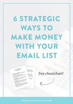 Soo you have an email list, but you have no idea how to use it to make money online. This in-depth post describes 6 killer ways to use your email list as a way to increase your income. It's perfect for business owners, entrepreneurs, an E-mail Marketing, Marketing Digital, Marketing Website, Email Marketing Design, Email Marketing Strategy, Email Design, Online Marketing, Content Marketing, Affiliate Marketing