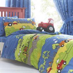 toddler bed set with tractors | farm tractor duvet set product code jkhft1230 hilltop farm duvet set ..