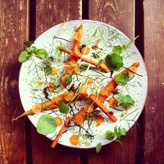 Milky cheese with young carrot and fermented carrots by @tonikostian #TheArtOfPlating