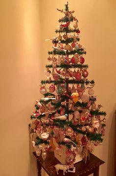 German Christmas Ornaments, Vintage Christmas, Christmas Tree, Feather Tree, Trees, Antiques, Holiday Decor, Home Decor, Teal Christmas Tree