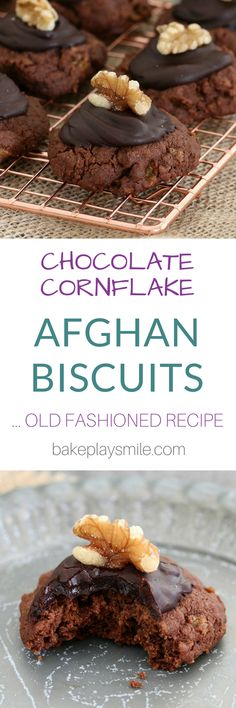 Nothing beats these delicious AFGHANS CHOCOLATE CORNFLAKE COOKIES!!   Crunchy, chocolatey and oh-so-yummy! Everyone who tries these falls in love with them!  #afghans #chocolate #cornflake #biscuits #cookies #edmonds #classic #oldfashioned #best #thermomix #conventional #recipe
