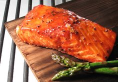 """PLANKED salmon…so much better than normal salmon. Find out exactly what """"planking"""" is and click for the recipe!"""
