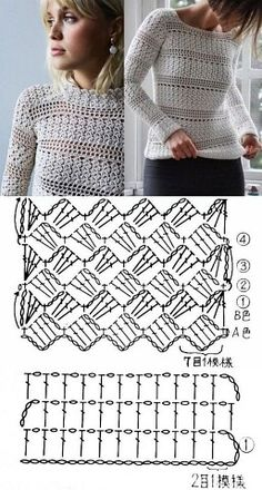 Easy Knitting Projects, Easy Knitting Patterns, Shawl Patterns, Crochet Projects, Crochet Patterns, Crochet Diagram, Crochet Chart, Crochet Stitches, Pull Crochet