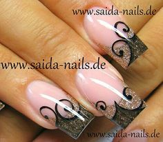 Beautiful Nail Designs for Long Nails. Compared with short nails, the long nail designs are perfect for special events. A perfect nail design can complete Gel Nail Art Designs, Long Nail Designs, Beautiful Nail Designs, Pretty Designs, Nails Design, Fancy Nails, Love Nails, How To Do Nails, Fabulous Nails