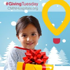 Now that #BlackFriday and #CyberMonday have passed, give back on #GivingTuesday! Donate $5 at http://CMNHospitals.org in honor of the one million kids who will be hospitalized this holiday season.  With your support, $5 at a time, our hospitals can provide the best care for our most precious gifts—local kids.