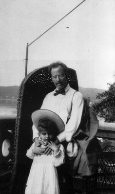 Gustav Mahler being a father