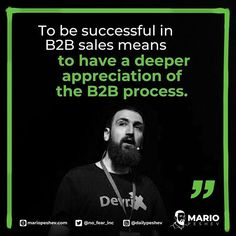 To be successful in sales means to have a deeper appreciation of processes, determining and reaching the decision-makers, and knowing how to go through the sales process efficiently. Conference Talks, Sales Process, Sales Tips, To Reach, Sales And Marketing, Case Study, Appreciation, Success, Mario