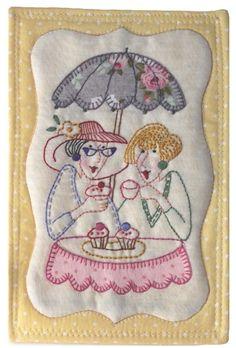 Chic Mug Rug. - Red Brolly...free pattern by Norwood