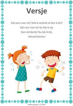 Versje: Thema Het kleurenmonster Kindergarten Songs, Kids Learning, Memories, Feelings, Fictional Characters, Seo, Pug, Memoirs, Souvenirs