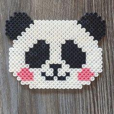 Panda bear hama beads by mioumydarling