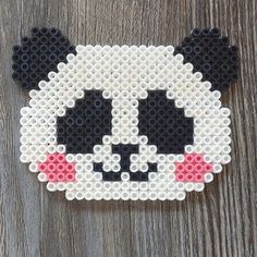 Panda bear hama beads by mioumydarling