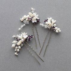 Flower hair pin. Craft ideas from LC.Pandahall.com