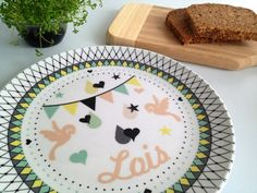 Hey, I found this really awesome Etsy listing at https://www.etsy.com/listing/150215113/personalized-melamine-plate