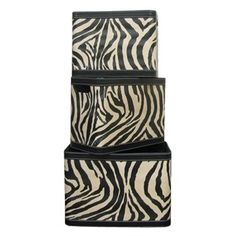 Zebra Print Leather Box Set
