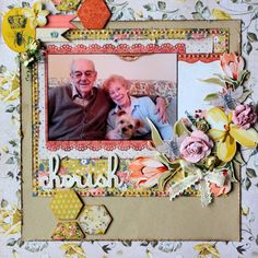 KaiserCraft Forget Me Not - layout by Wendy Smith