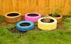 My recycled tyres project for my garden