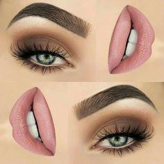 20 Top Exclusive Eye Shadow and Lip Makeup Appearance 20 Top exklusives Lidschatten- und Lippen-Make-up Natural Eye Makeup, Eye Makeup Tips, Smokey Eye Makeup, Makeup Goals, Skin Makeup, Makeup Ideas, Mua Makeup, Makeup Hacks, Makeup Kit