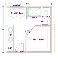 bathroom and closet floor plans |  plans/free 10x16