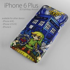 zelda dr tardis for iphone 6 / iphone 6 plus iphone 5/5s/5c case  tardis iphone case zelda iphone case