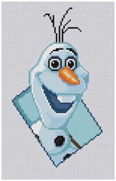 PDF Cross Stitch pattern 0038.Olaf Frozen INSTANT