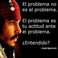 Observa bien qué actitud tendrás ante un problema