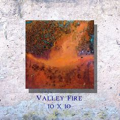 Copper Art Abstract Patina Painting Valley Fire 10