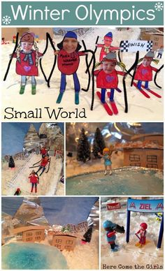A Winter Olympics small world, complete with ski ramp and ice rink. Winter Activities For Kids, Winter Games, Christmas Activities, Olympic Idea, Olympic Games, Small World, Olympic Crafts, Summer Olympics, Winter Theme