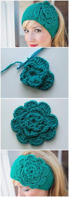 Crochet Headband Pattern With Button Flower Trendy Ideas Crochet Baby Pants, Crochet Baby Bonnet, Crochet Headband Pattern, Crochet Wool, Crochet Quilt, Crochet Stitches, Crochet Patterns, Crochet Hats, Crochet For Kids