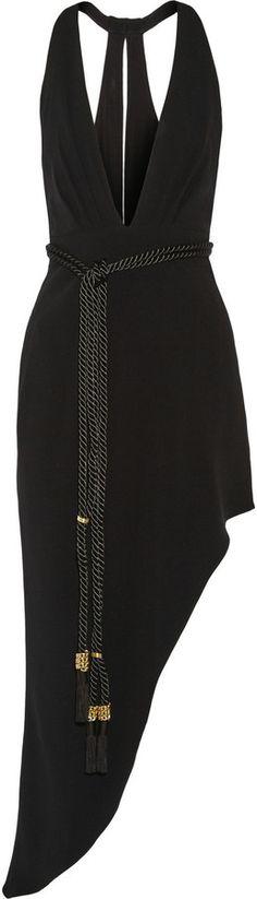 Haney Asymmetric Stretch-Jersey Gown