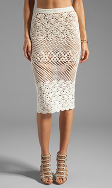 Spell & The Gypsy Collective Coconut Crochet Skirt en Off White | REVOLVE…