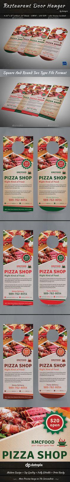 Go Fresh Restaurant Door Hanger Pinterest Door hanger template