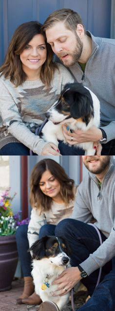 This young family and their adorable new dog were so fun to photograph! I love it when couples are just having a great time during their session and are playing around with each other. It makes for some wonderfully candid photography! Surai Dohm | Saint Charles, MO