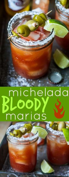 Michelada Bloody Marias - bright citrus juice, flavorful beer, and blanco tequila add refreshing flavor to this twist on a classic Bloody Mary; just the thing for lazy brunches, backyard parties, and friendly fiestas! Summer Drinks, Cocktail Drinks, Fun Drinks, Cocktail Recipes, Beverages, Cocktail Tequila, Margarita Recipes, Daiquiri, Sangria