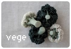 Incredible amigurumi broccoli & cauliflower by Japanese artist jungjung