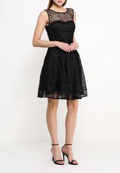 Платье LAMANIA выполнено из полупрозрачного шифона черного цвета с отделкой из кружева крупной вязки http://fas.st/i_-IB