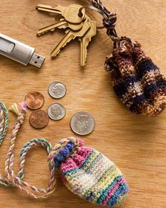 Best Free Crochet » Free Crochet Pattern Key Ring Pouch From RedHeart.com